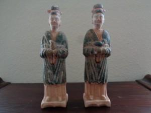 Diener, dreifarbig glasiert. Tang-Dynastie, Xi'an