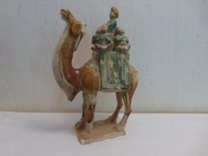 Kamel mit Frau und Kindern