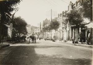 Straße in Qingdao ca. 1920